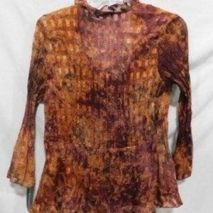 Women's 2 PC Brown Top Sz S, by Notations